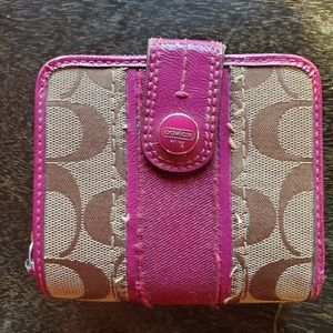Coach Wallet Pink/Brown